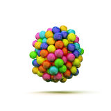 Gumballs. On white background Stock Image