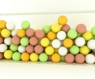 Gumballs. On white background Royalty Free Stock Photo