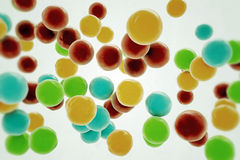 Gumballs. On white background Royalty Free Stock Photos