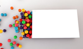 Gumballs in a white box. On white background Royalty Free Stock Image