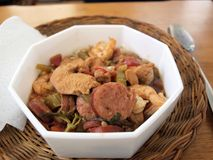 Gumbo in bowl Royalty Free Stock Photo