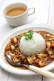 Gumbo with crawfish, chicken & sausage Stock Images