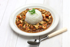 Gumbo with crawfish, chicken & sausage Stock Image