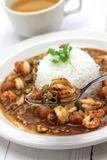 Gumbo with crawfish, chicken & sausage Royalty Free Stock Photos