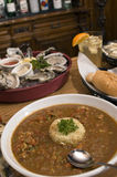 Gumbo platter Stock Photography