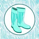 Gumboots de goma aislados Imágenes de archivo libres de regalías