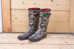Gumboots with Pattern Royalty Free Stock Image