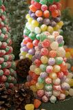 Gumdrops tree for Christmas ornaments royalty free stock photo