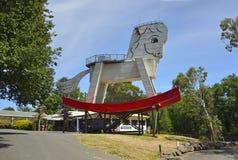 """Gumeracha, †dell'Australia """"gennaio 2016 Grande cavallo a dondolo in Gumeracha, Australia Meridionale Fotografie Stock"""