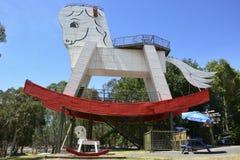 Gumeracha, Australia – January, 2016. Big Rocking Horse in Gumeracha, South Australia. Royalty Free Stock Photo