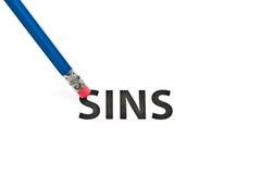 Gumka i grzechu pojęcie Obraz Stock