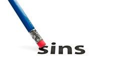 Gumka i grzechu pojęcie Zdjęcia Stock