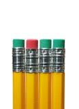 gumki ołówkowe obraz stock