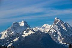 Gummfluh, Rubli och Videmanette, Schweiz Royaltyfria Foton