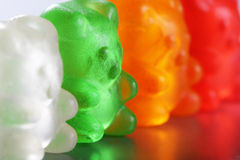 Gummi Bear Closeup. Assorted colorful gummi bears Stock Photography