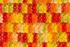Gummi bears background Royalty Free Stock Photography