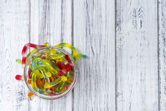 Gummi Candy (worms) Royalty Free Stock Image