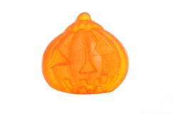 Gummi halloween pumpkin candy Royalty Free Stock Photo