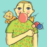 gummi inflate till royaltyfri illustrationer