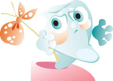 gummi låter vara tanden Royaltyfri Bild