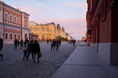 Gummi och röd fyrkant i Moskva Royaltyfri Fotografi