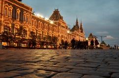 Gummi och röd fyrkant i Moskva Fotografering för Bildbyråer