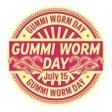 Gummi Worm Day,  July 15 Royalty Free Stock Image