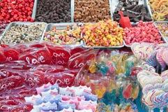 Gummiartige Süßigkeiten und Lutscher Jello Stockbild