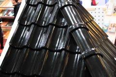 Gummidachplatten Stockfotos