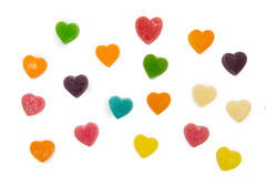 Gummies heart. Isolated on a white background Stock Photos