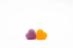 Gummies heart. On a white background Royalty Free Stock Images