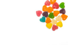 Gummies heart. On a white background Stock Image