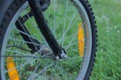 Gummihjul av en cykel fotografering för bildbyråer