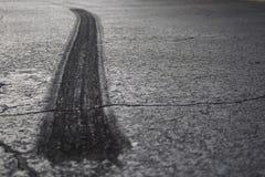gummihjul för asfaltsammanbrott ii Royaltyfri Fotografi