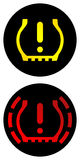 gummihjul för kontrolltrycksystem Arkivbilder