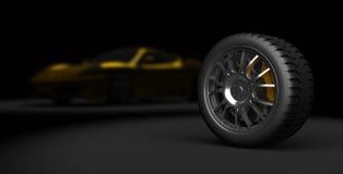 gummihjul för sport 3d Arkivbild
