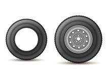 Gummihjul och hjul vektor illustrationer