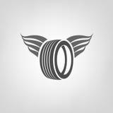 Gummihjulet shoppar logo Fotografering för Bildbyråer