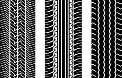 gummihjulspår Arkivfoto