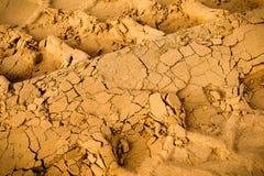 Gummihjulspår på sanden Royaltyfri Bild