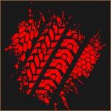 Gummihjulspår - vektoruppsättning Royaltyfri Bild