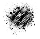 Gummihjulspårfärgstänk stock illustrationer