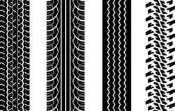 gummihjulspår Arkivbild