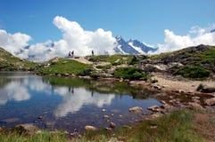 Gummilack-DES Cheserys, Mont Blanc-Gebirgsmassiv, Frankreich Stockfotografie