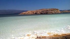 Gummilacka Assal - salt sjö, Djibouti East Africa arkivfilmer