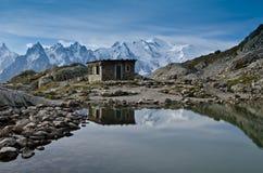 Gummilacka Blanc - franska Alps Fotografering för Bildbyråer