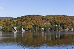 Gummilacka-Superieur Mont-tremblant, Quebec, Kanada Arkivbilder