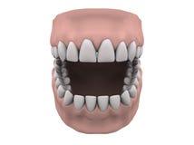 gummin öppnar tänder stock illustrationer