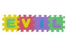 Gummipuzzlespiel mit Wortübel Lizenzfreie Stockfotos