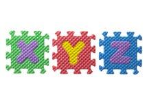 Gummipuzzlespielstücke Lizenzfreies Stockbild